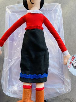 Vintage Olive Oyl Doll Plush Fabric Play By Play 1992 Stuffed 13'' Classic for Sale in Waco,  TX