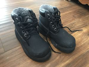 Kids boots black snow size 10.5 for Sale in Montclair, CA