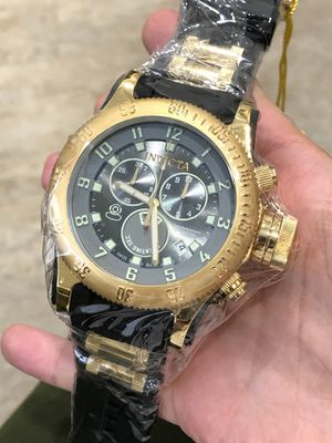 $1295 - Invicta Men's Russian Diver 18k Gold Chronograph Military Swiss Made Rare Factory Sealed Authentic for Sale in Brooklyn, NY
