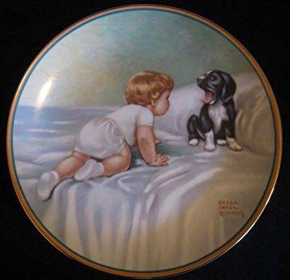 Bessie Pease Gutmann-Who's Sleepy plate