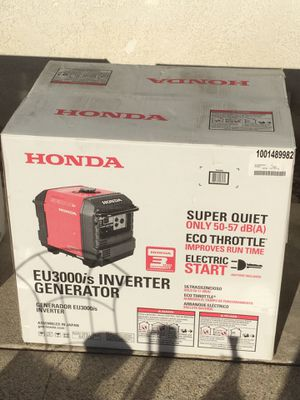 RV GENERATOR .. HONDA EU3000is electric start BRAND NEW NEVER BEEN OUT OF BOX for Sale in Montclair, CA