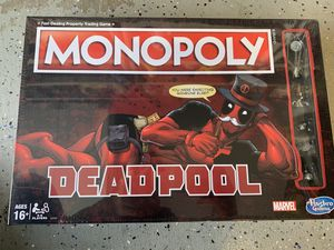 Hasbro Monopoly Game: Marvel Deadpool Edition for Sale in Corona, CA