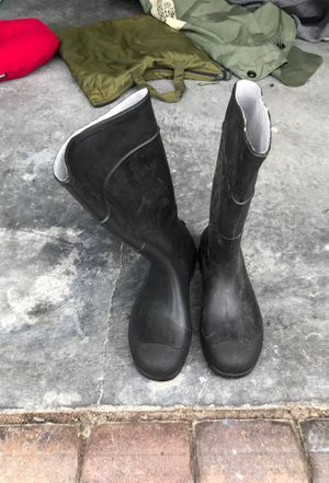 Army rain and regular boots for Sale in St. Cloud, FL