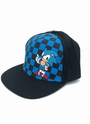 Brand NEW! Blue Checkered Sonic The Hedgehog Novelty Snapback Kids/Youth Hat/Cap For Everyday Use/Outdoors/Parties/Gaming/Toys/Birthday Gifts for Sale in Carson, CA