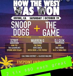 How The West Won concert for Sale in San Bernardino, CA