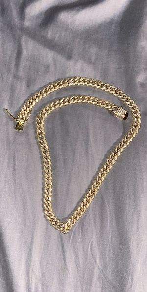 925 Gold cuban link chain for Sale in Hayward, CA