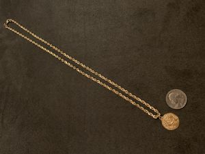 24inch 14k Yellow gold rope chain and 14k pendant for Sale in Wichita, KS