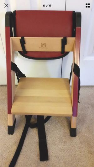 Stokke handysitt portable booster or chair with back and seat cushion for Sale in Glen Allen, VA