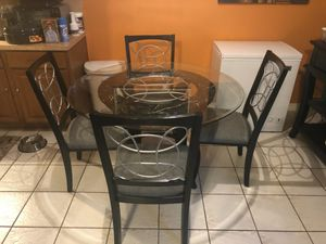 Very Nice Glass Kitchen Table w/ Server/Buffet for Sale in Houston, TX