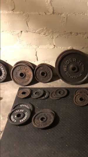 Barbell and plates for Sale in Boston, MA