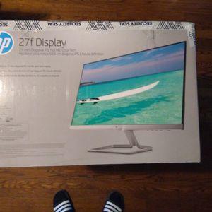 "New HP 27"" LED IPS Monitor Model 27f VGA / HDMI for Sale in Oak Park, IL"