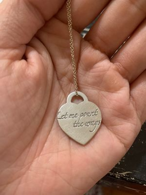 Tiffany and co Rare Let Me Count The Ways Heart Charm Pendant for Sale in Temple City, CA