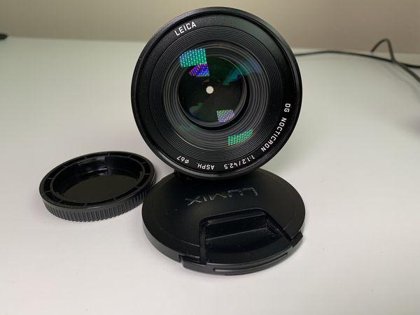 Panasonic Leica 42.5mm f/1.2 Lens