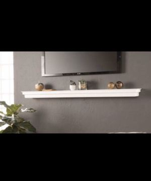 NEW Large 6 FT MANTEL SHELF White Floating Crown Molding 72x8x4 NIB for Sale in Westerville, OH