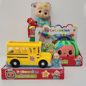 Lot of 4 Cocomelon Toys - Cocomelon JJ Doll, Yellow School Bus, Musical Doctor Kit & Bath Toys for Sale in Houston, TX