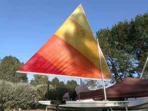 1978 Sailboat. 10' Mini Fish by Alcort + Hawke Boat Trailer for Sale in Mission Viejo, CA