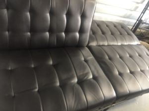 dark brown leather futon; best offer and it's yours delivery available for Sale in Providence, RI