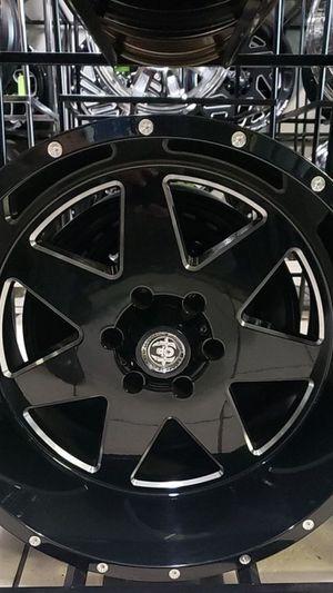 22x12 black hardcore rims 6 lug 6x139 6x5.5 on new mud tires 33 1250 22 lt for Sale in Phoenix, AZ