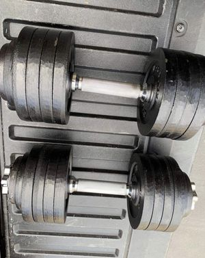 Adjustable Dumbbells 52.5 LBS Each plus more! for Sale in Seattle, WA