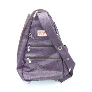 Life Is Tennis Jetpac Tennis Racket Case Slingback Bag Purple Ostrich Skin Look for Sale in Palmetto, FL