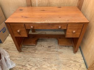 Large solid wood desk with drawers for Sale in Torrance, CA