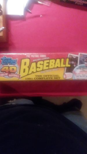 1991 topps baseball cards complete set for Sale in Asheboro, NC