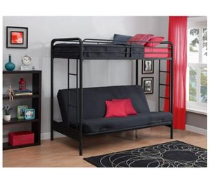 Twin over futon bunk bed for Sale in Saint Petersburg, FL