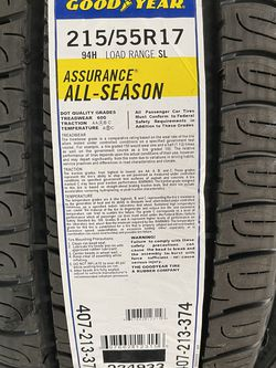 215/55R17 GOODYEAR ASSURANCE ALL SEASON for Sale in Los Angeles,  CA