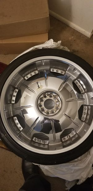 22 inch rims and tires. (265 35 R22) for Sale in Lorton, VA
