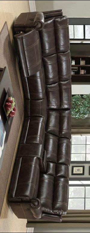 Free Delivery 🐋 BEST Deal 🐋 Stella Brown Reclining Sectional 128 for Sale in Houston, TX