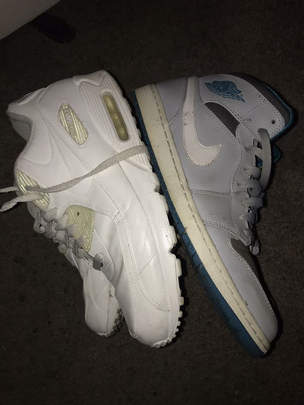 Air jordan 1 and air max 90 size 11.5 men's
