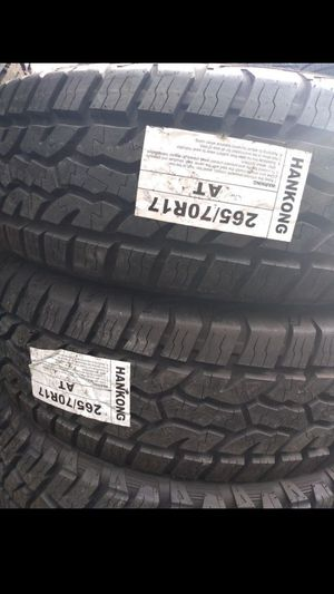 MONKEY wheels and tires 265 70 17 for Sale in Phoenix, AZ