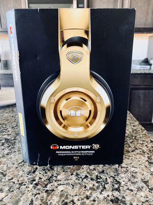 Monster 24k pro headphones for Sale in Las Vegas, NV