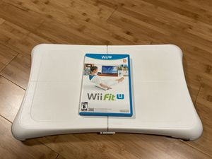 Wii Fit U with balance board for Sale in Alexandria, VA