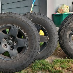 4 Like New 265/70R17LT TIRES AND RIMS for Sale in Bristol, RI