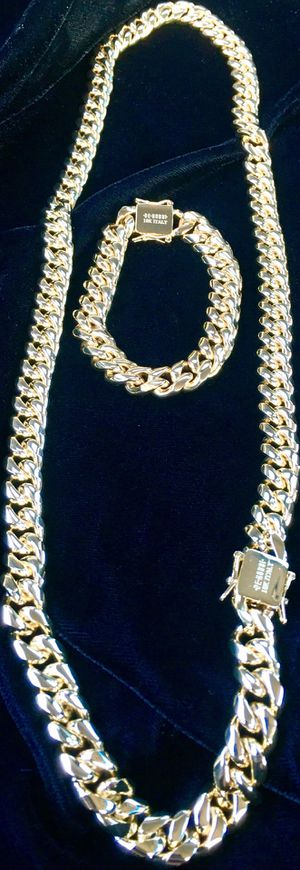 CUBAN LINK 18K GOLD NEW CHAIN MADE IN ITALY for Sale in Miami Beach, FL