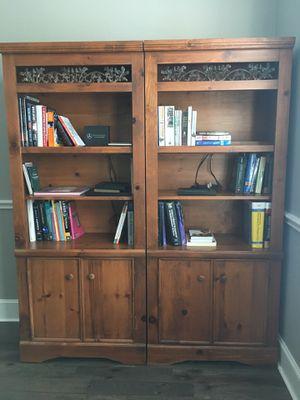 Two bookshelves hardwood for Sale in Tomball, TX