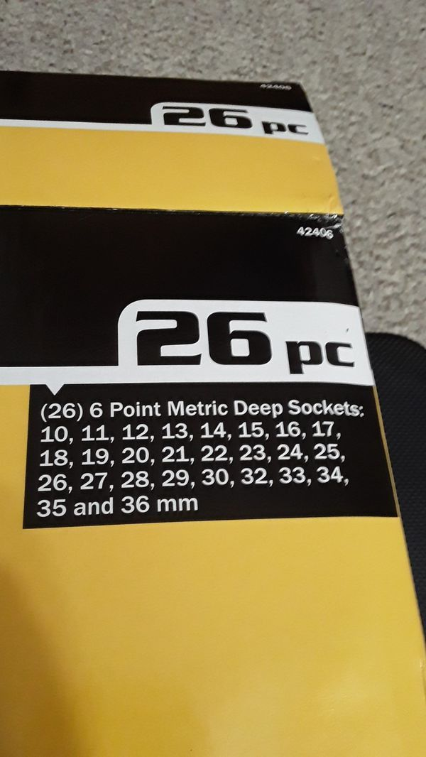 "Titan Tools #42406 Metric Deep Impact Socket Set 1/2"" Drive"