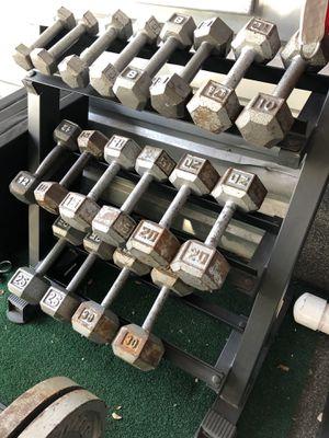 HEX Dumbbells 3-30 lbs w rack for Sale in Oviedo, FL