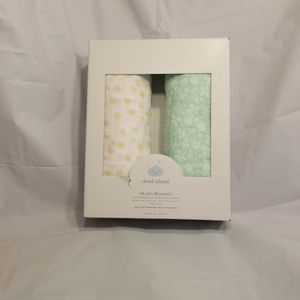 Cloud Island Muslin Swaddle Blankets Wildflower 2 Pack Floral NEW for Sale in North Haven, CT