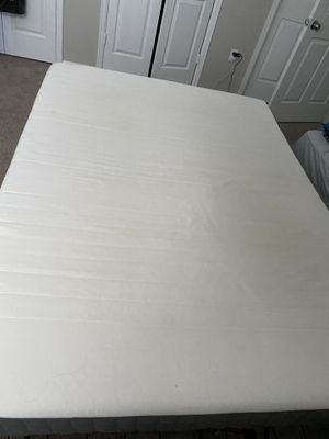 Queen foam mattress and metal bed frame for Sale in Lone Tree, CO