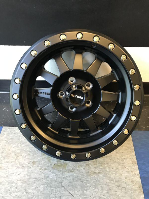 Method Race Wheels MR 304 Double Standard Matte Black 15X8 5X4.5
