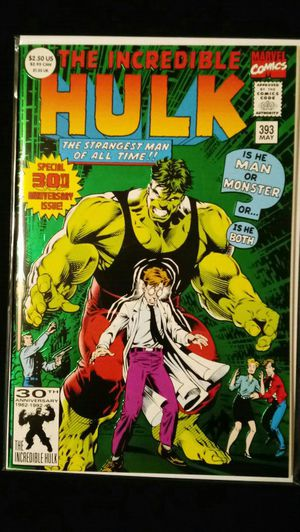 1992 Marvel Comics INCREDIBLE HULK #393 Anniversary Issue for Sale in Downey, CA