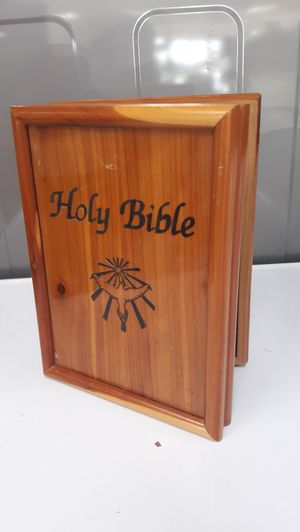 Holy bible wooden case for Sale in Stafford, TX