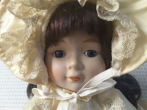 Porcelain music Doll blue eye for Sale in West Covina, CA
