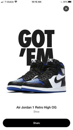 Air Jordan 1 Royal 2020 for Sale in Boston, MA
