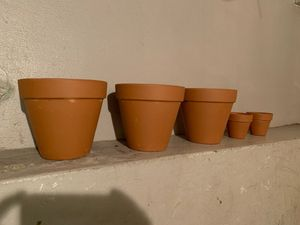 5 Flower Pots ,Made in Italy. for Sale in Elgin, IL