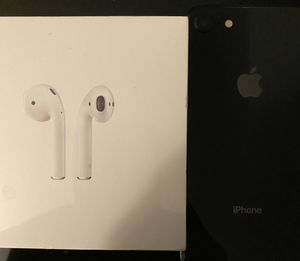 Bundle deal iPhone 8 64g and AirPods for Sale in Greenbelt, MD