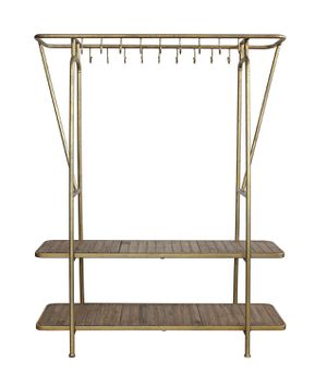 Brass 2 Shelf Hook Rack for Sale in Grand Prairie, TX