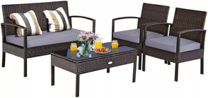 4 pcs Wicker Patio Conversation Furniture Set for Sale in Los Angeles, CA